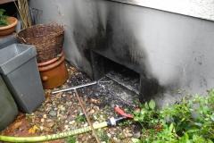 Kellerfenster des Brandraumes