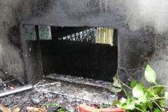 teilweise ist das Fenster durch die Sauna versperrt