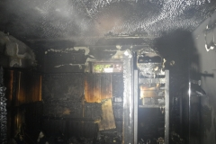 Das Feuer hat schwere Schäden hinterlassen