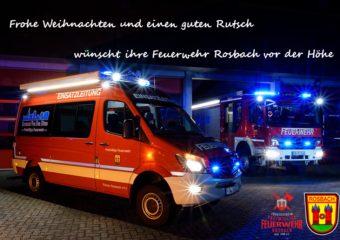 Weihnachtsgrüße der Feuerwehr Rosbach
