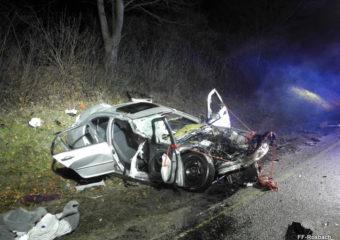 Schwerer Verkehrsunfall fordert die Feuerwehr Rosbach