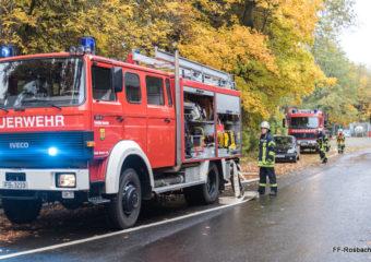 Jahresabschlussübung der Feuerwehren der Stadt Rosbach