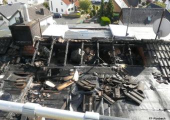 Dachstuhlbrand nach Dacharbeiten